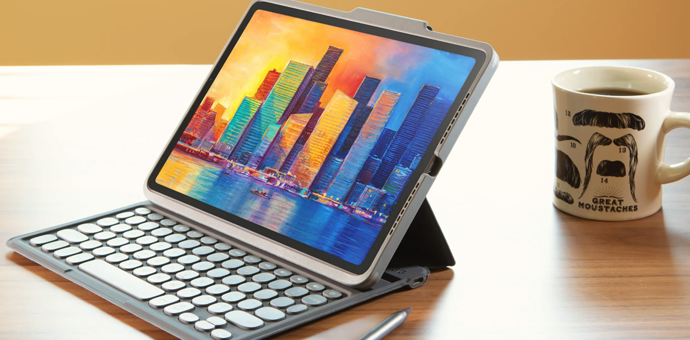 iPad 10.2 (2019/2020) (7th/8th Gen) ZAGG Black/Grey Pro Keys Keyboard