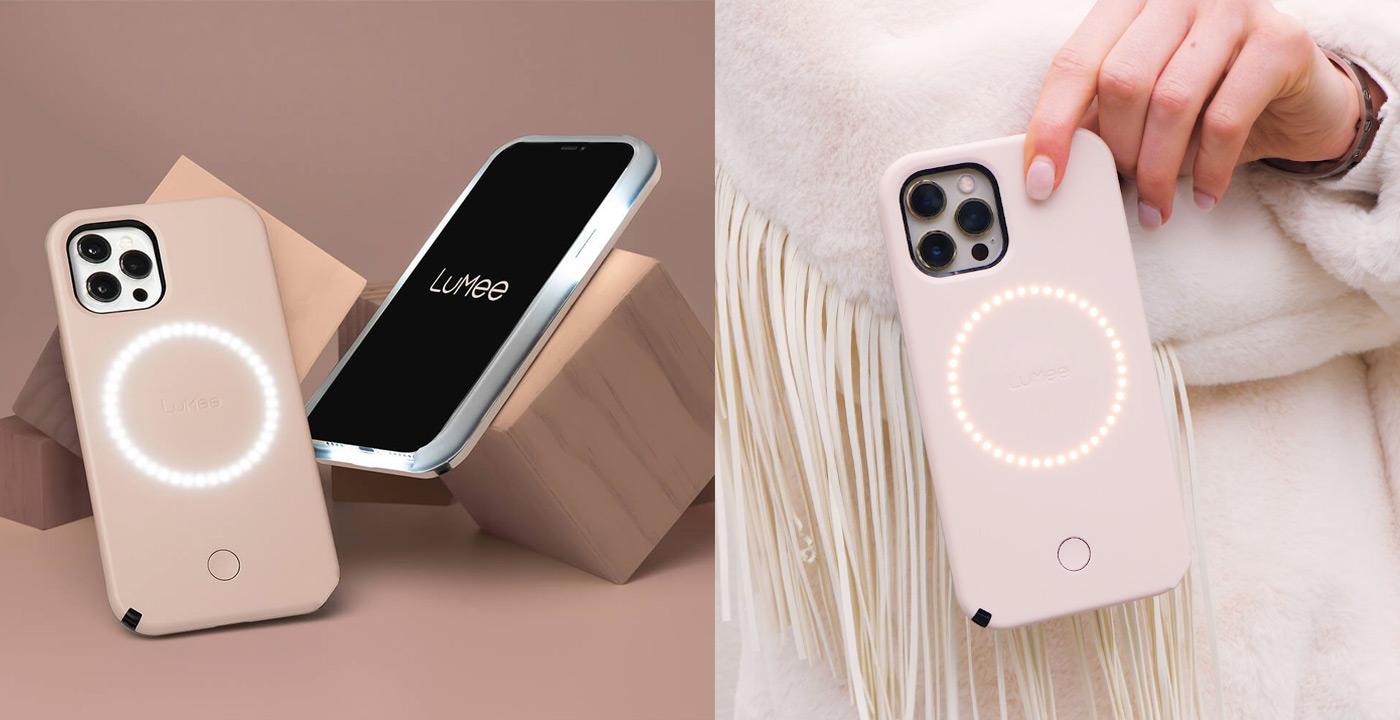 iPhone 12/12 Pro LuMee Millennial Pink Halo Case